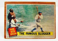Vintage Babe Ruth Special Baseball Card, Famous Slugger