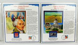 2 Commemorative Stamp Panels, 1938 & 1947