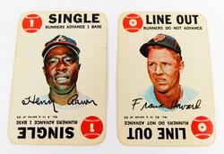 2 Topps 1968 Game Cards, Aaron & Howard