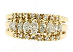Round Brilliant Cut & Marquise Diamond Ring