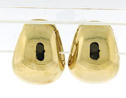 Simple Tapered Wide Huggie Earrings