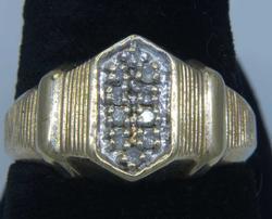 Interesting Diamond Hexagon Ring