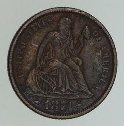 1874 Seated Liberty Dime - Circulated