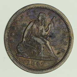 1842-O Seated Liberty Quarter - Lare Date