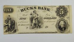 No Date $5.00 State of Tennessee Bucks Bank Note