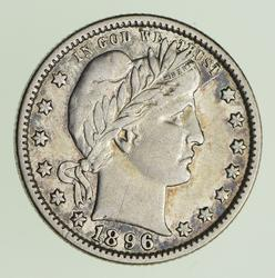 1896-O Barber Quarter - Circulated
