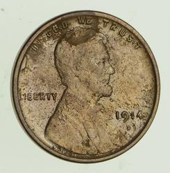 1914-D Lincoln Wheat Cent - Circulated