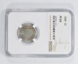 PF65 1888 Liberty V Nickel - NGC Graded