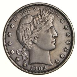 1902 Barber Half Dollar - Circulated