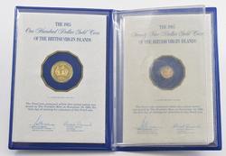 1985 British Virgin Islands $100 & $25 Gold 2 Coin Proof Set