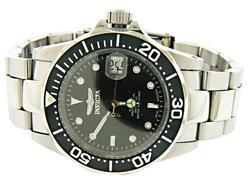 Invicta Pro Diver Black Automatic Coin Bezel Watch