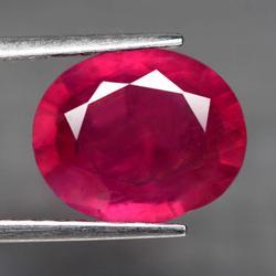 Ravishing 4.12ct rich blood red Ruby