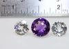 Sparkly Natural Amethyst & Topaz Set of 3
