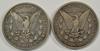 Scarce 1890-CC & 1891-CC Morgan Silver Dollars
