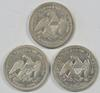 Great lot of 3 diff. No Motto Liberty Seated Quarters