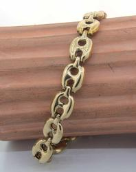 Chunky Fancy-Linked Bracelet in Gold