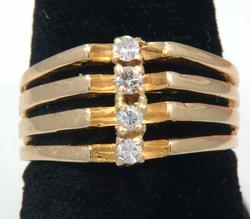 Stylized Modern Diamond Ring