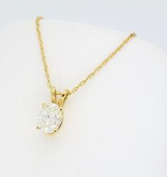 Solitaire Diamond Pendant Necklace
