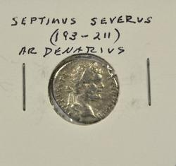 Nice Septimius Severus Roman Silver Denarius, 193-211AD