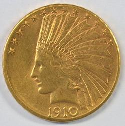 Lovely 1910-D US $10 Indian Gold Piece