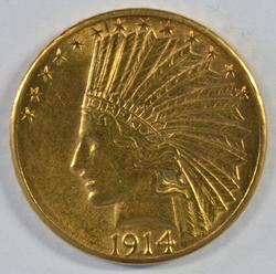 Beautiful 1914-D US $10 Indian Gold Piece