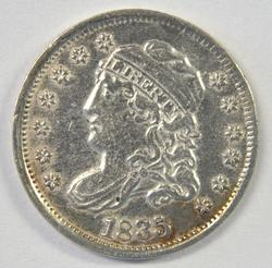 Fully struck top end 1835 Capped Bust Half Dime