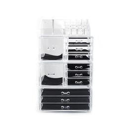 4Pcs/Set Plastic Cosmetics Storage Rack Transparent