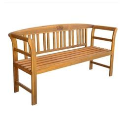 Solid Acacia Wood Outdoor Bench 62-inch