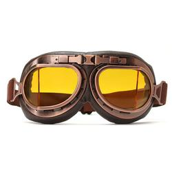 Vintage Pilot Motorcycle Glasses Anti UV
