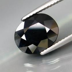 Elegant 4.63ct heated only black Sapphire