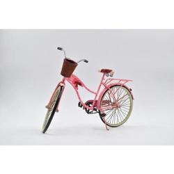 Miniature Pink Woman Bicycle Classic Artwork
