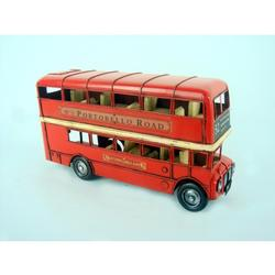 Vintage 1905 RED London Double Bus Model for Decoration
