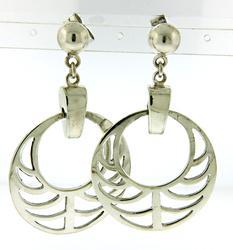 Fancy Sterling Silver Dangle Earrings