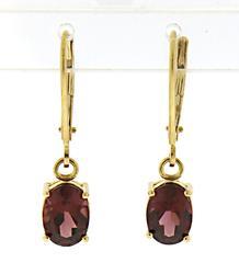 Pretty Rhodalite Garnet Earrings