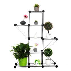 66*22*86 cm Balcony Metal Flower Plant Standing Rack