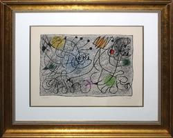 JOAN MIRO UNTITLED 1970 RARE HAND SIGNED