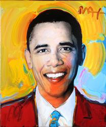 PETER MAX BARACK OBAMA 2012 ORIGINAL