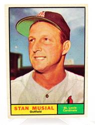 1961 Stan Musial, Cardinals Baseball Card