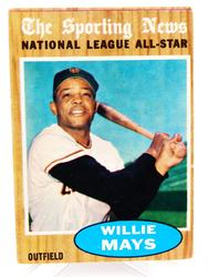 Willie Mays Topps All-Star Baseball Card