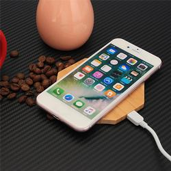 Wireless Charger Pad Qi Wooden Mat Charging Mini