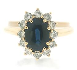 Gorgeous Sapphire and Diamond Halo Ring
