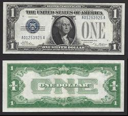 $1 1928 First of the small size Silver Certificate