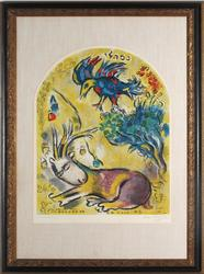 MARC CHAGALL THE TRIBE OF NAPHTALI 1964 SIGNED
