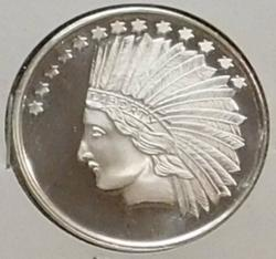 PROOF 1 oz Silver round - Indian
