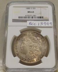 1880-S Morgan Dollar  NGC  MS-63