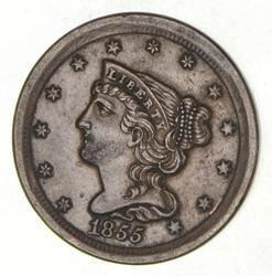 1855 Braided Hair Half Cent