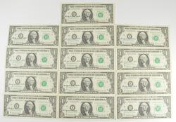 Lot (10) 1963 $1 Federal Reserve Notes - Courtesy Signed