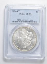 MS65 1884-CC Morgan Silver Dollar - Graded PCGS
