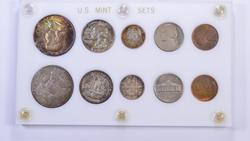 1957 10 Coin Mint Set - Capital Holder - Toned