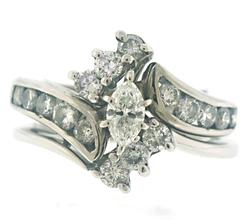 Gorgeous Marquise & RBC Wedding Ring Set